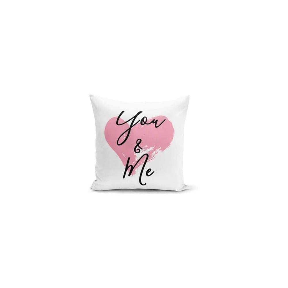 Obliečka na vankúš Minimalist Cushion Covers You & Me Heart, 45 × 45 cm