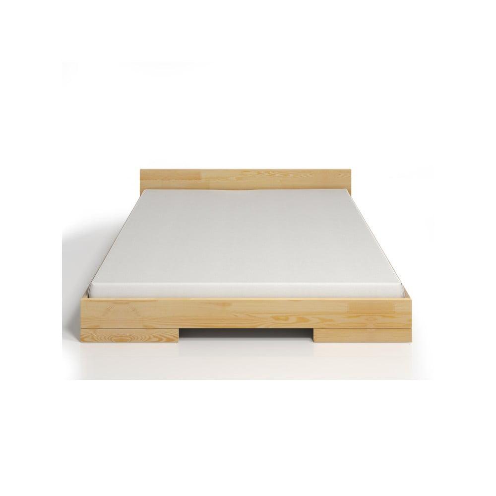 Dvojlôžková posteľ z borovicového dreva SKANDICA Spectrum, 200 × 200 cm