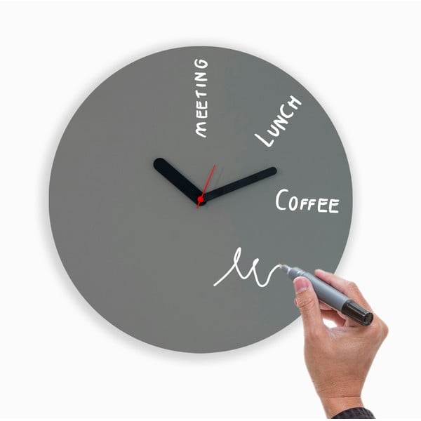 Nástenné hodiny Draw Up Wall Grey