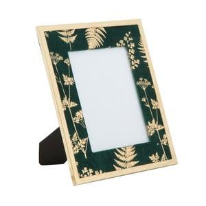 Zeleno-zlatý stolový fotorámik Mauro Ferretti Glam, 15 × 20 cm