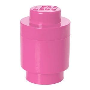 Okrúhly úložný box, ružový