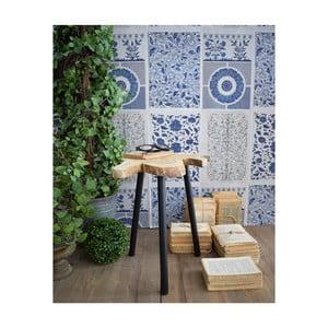 Odkladací stolík z teakového dreva Orchidea Milano Country, ø 40 cm