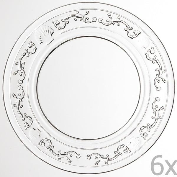 Sada 6 dezertných tanierov Versailles, 19 cm