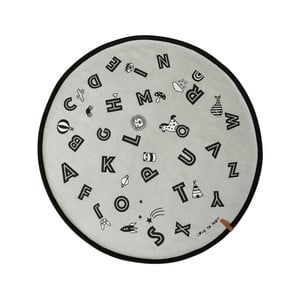 Bavlnený koberec OYOY The Alphabet, ⌀ 120 cm