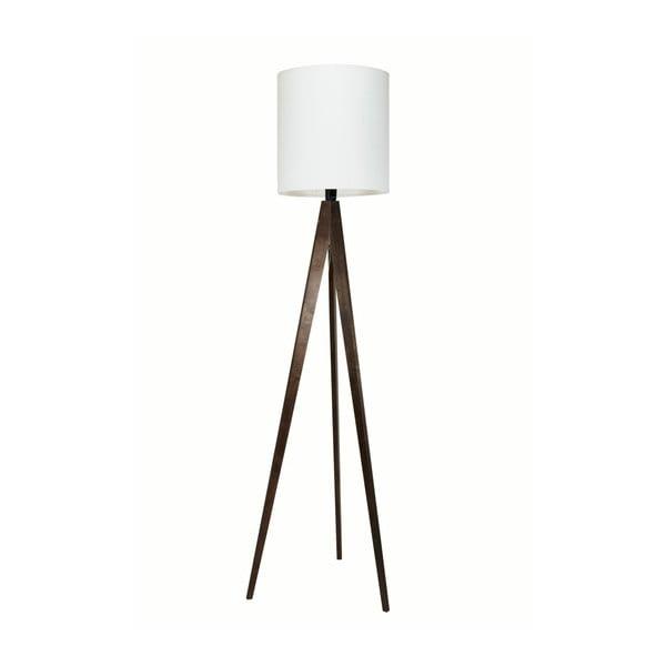 Biela stojacia lampa 4room Artist, čierna lakovaná breza, 158 cm