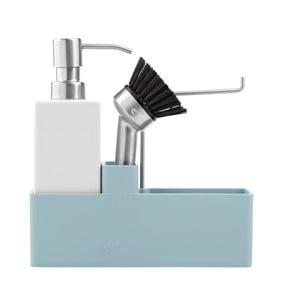 Trojdielna sada na umývanie riadu, svetlo modrá