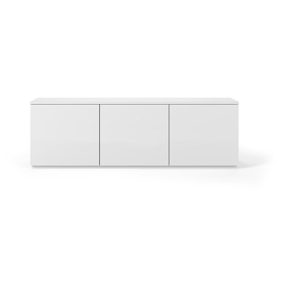Biely televízny stolík s matnou bielou doskou TemaHome Join, 180 × 57 cm