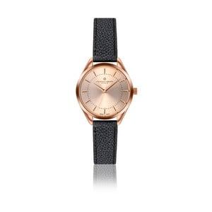 Dámske hodinky s čiernym remienkom z pravej kože Frederic Graff Melissa