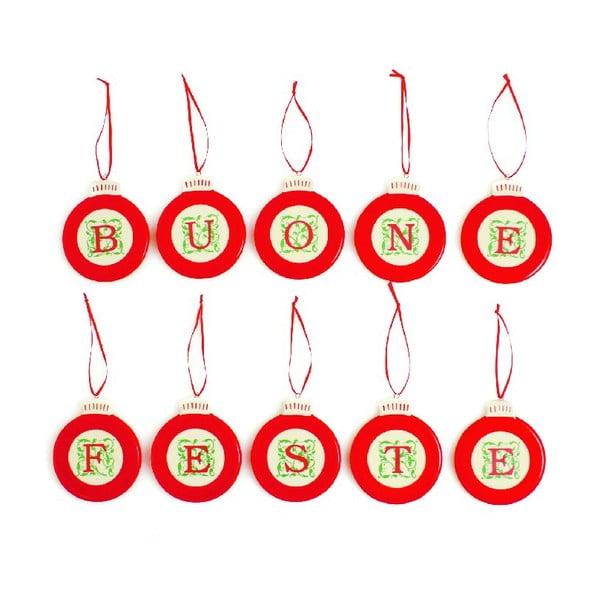 Set vianočných ozdôb Buone Feste