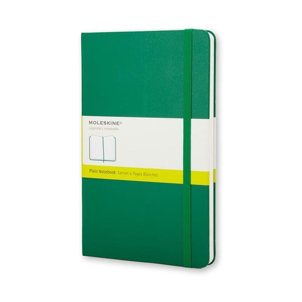 Malý zelený zápisník Moleskine Hard, bezlinajok