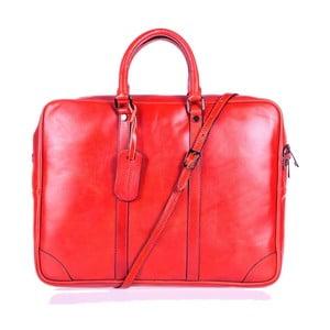 Červená kožená taška cez rameno Italia in Progress Donatello