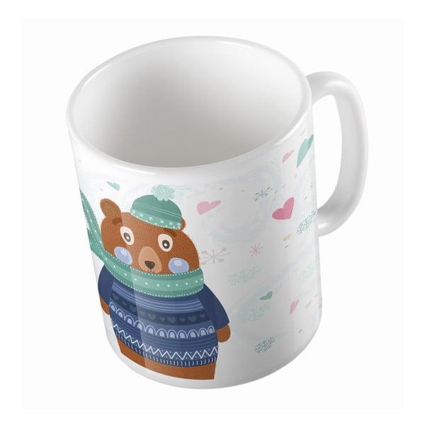 Keramický hrnček Bear in Jumper, 330 ml