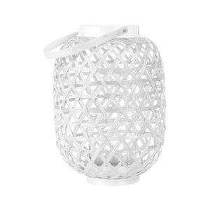 Biely lampáš Present Time Lattice, výška 27 cm