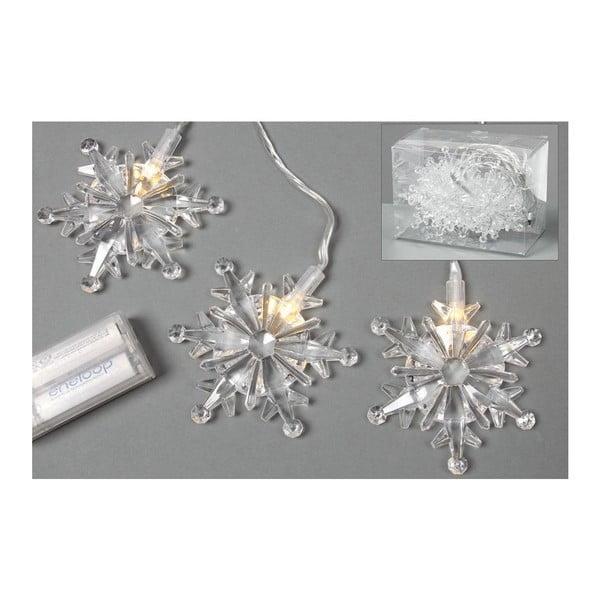 Svetelná LED reťaz Snowflakes, 90 cm