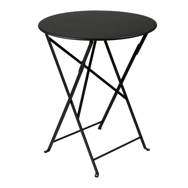 Čierny skladací kovový stôl Fermob Bistro