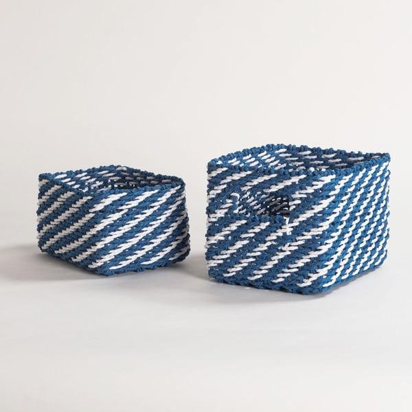 Sada 2 modrých úložných košíkov Compactor Basket Claudie