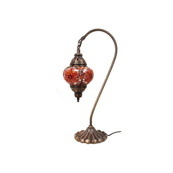 Sklenená ručne vyrobená lampa Fishing Hank, ⌀ 13 cm