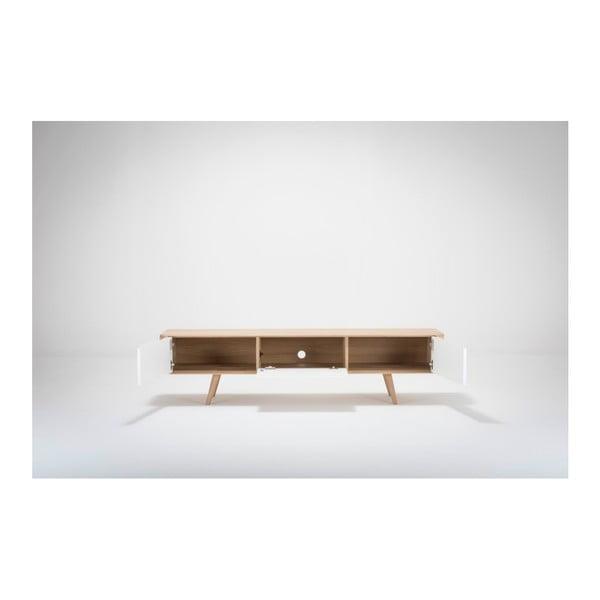 Televízny stolík z dubového dreva Ena, 180 x 55 x 45 cm