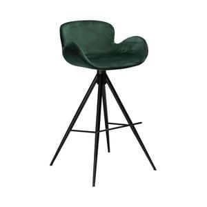 Tmavozelená barová stolička DAN–FORM Denmark Gaia Velvet, výška 98 cm