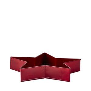 Červená servírovacia tácka v tvare hviezdy KJ Collection, 26,5 cm