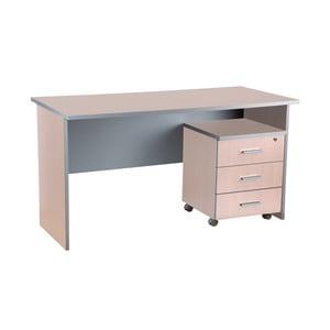 Pracovný stôl v dekore duba Milky Office