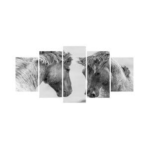 Viacdielny obraz Black&White no. 57, 100x50 cm
