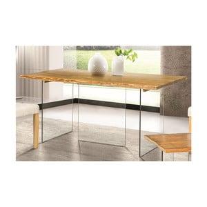 Sklenený jedálenský stôl z jaseňovej dyhy Esidra Luis