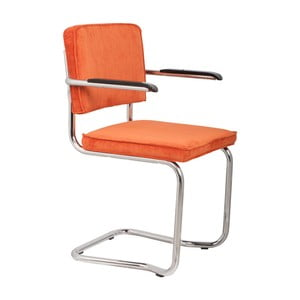 Sada 2 oranžových stoličiek s opierkami Zuiver Ridge Kink Rib