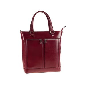 Kožená kabelka Ore Diece Albettone, červená