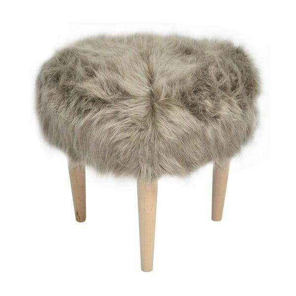 Taburet Happy Barok Furry, béžový