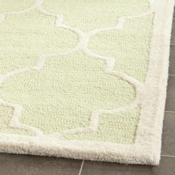 Vlnený koberec Everly 121x182 cm, zelený
