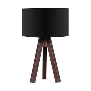 Stolová lampa s čiernym tienidlom Kate Louise Kahve
