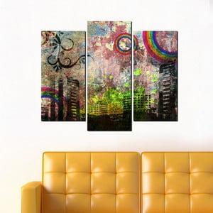 3-dielny obraz Grunge City