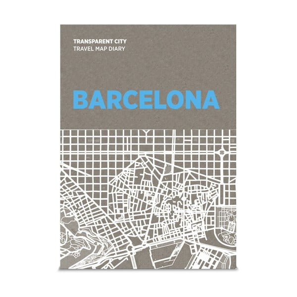 Mapa na popisky Palomar Transparent City Barcelona