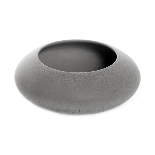 Sivá betónová miska Iris Hantwerk, Ø13,5 cm