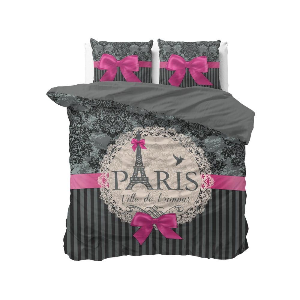 Bavlnené obliečky na dvojlôžko Sleeptime Love Paris, 200 × 220 cm