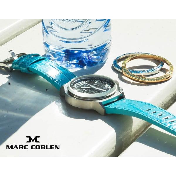 Dámske hodinky Marc Coblen s remienkom a krúžkom na ciferník naviac P116