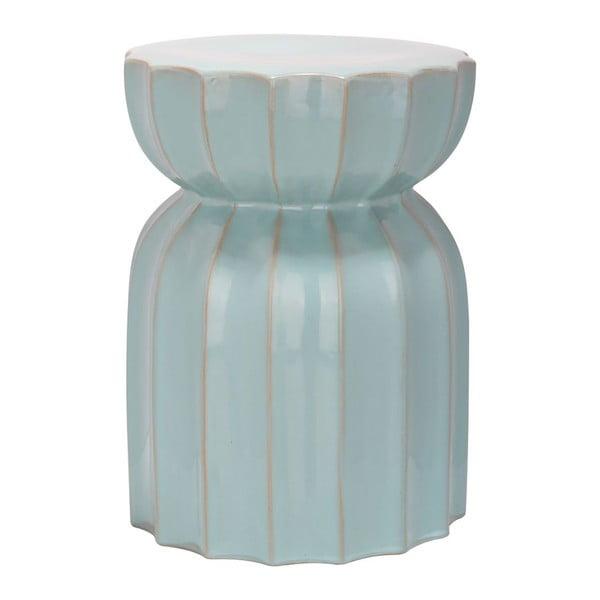 Keramický stolík Sculpted Lotus Light Aqua