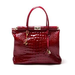 Kožená kabelka Luisa Vanini 613 Rosso