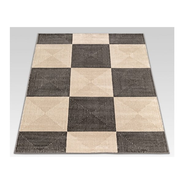 Koberec Webtappeti Reflex Brown Chess, 140x200cm
