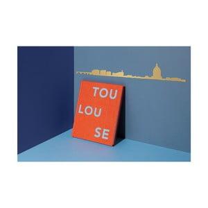 Pozlátená nástenná dekorácia so siluetou mesta The Line Toulouse