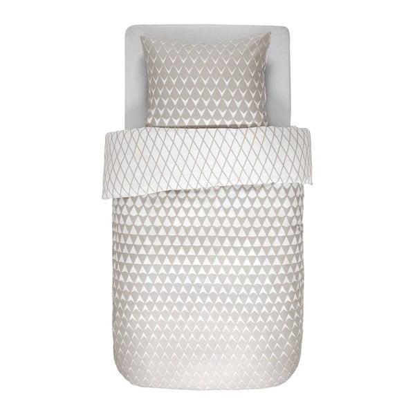 Béžovo-biele obliečky Esprit Mina, 140x200cm