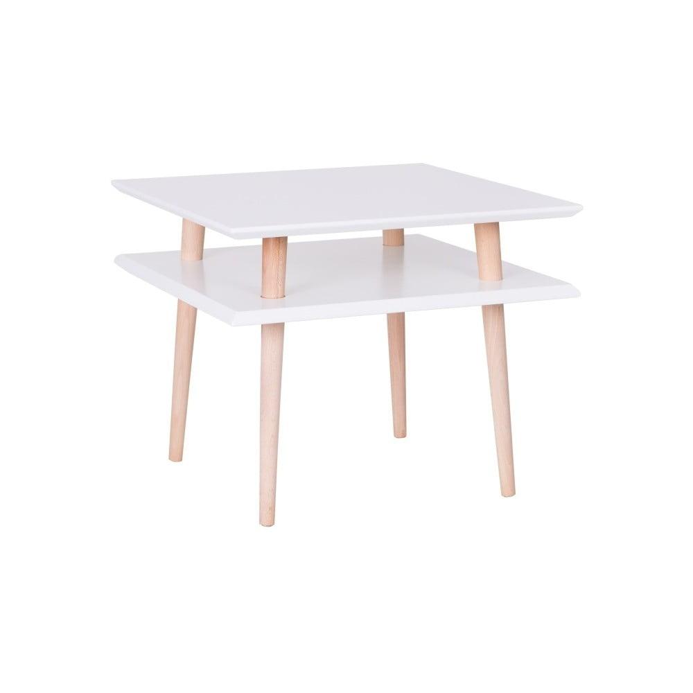 Biely konferenčný stolík Ragaba Square, 55 × 55 cm