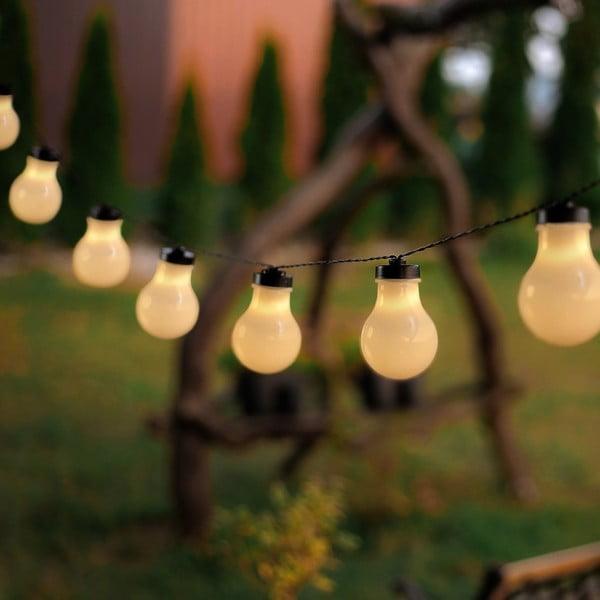 Svietiaca reťaz v tvare žiaroviek DecoKing Bulb, 2,2 m