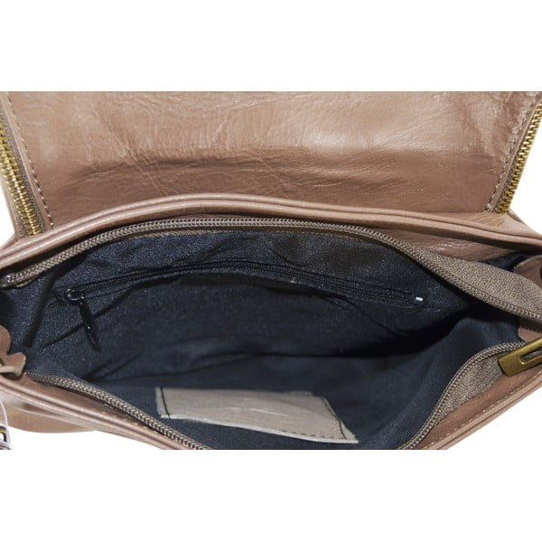 Kožená kabelka Celia, taupe