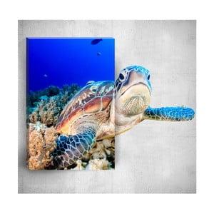 Nástenný 3D obraz Mosticx Sea Turtle, 40×60 cm