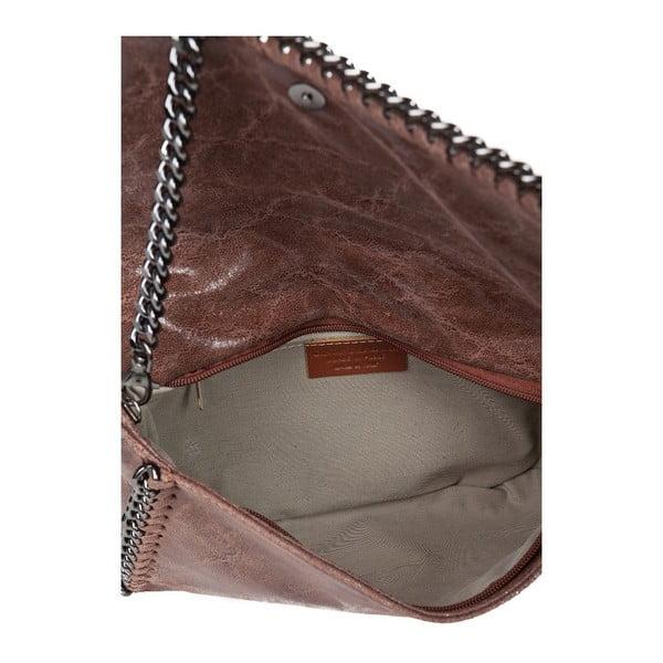 Kožená kabelka Chain Brown