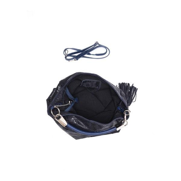 Kožená kabelka Classic 889 Blu Scuro