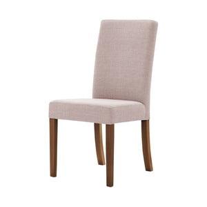 Púdrovoružová stolička s tmavohnedými nohami Ted Lapidus Maison Tonka