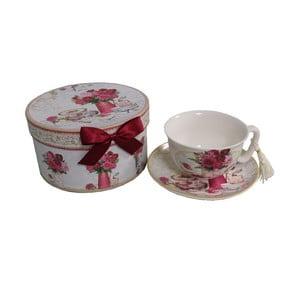 Hrnček s tanierikom v krabičke Antic Line Romantic